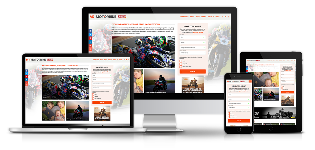 Mr Motorbike website